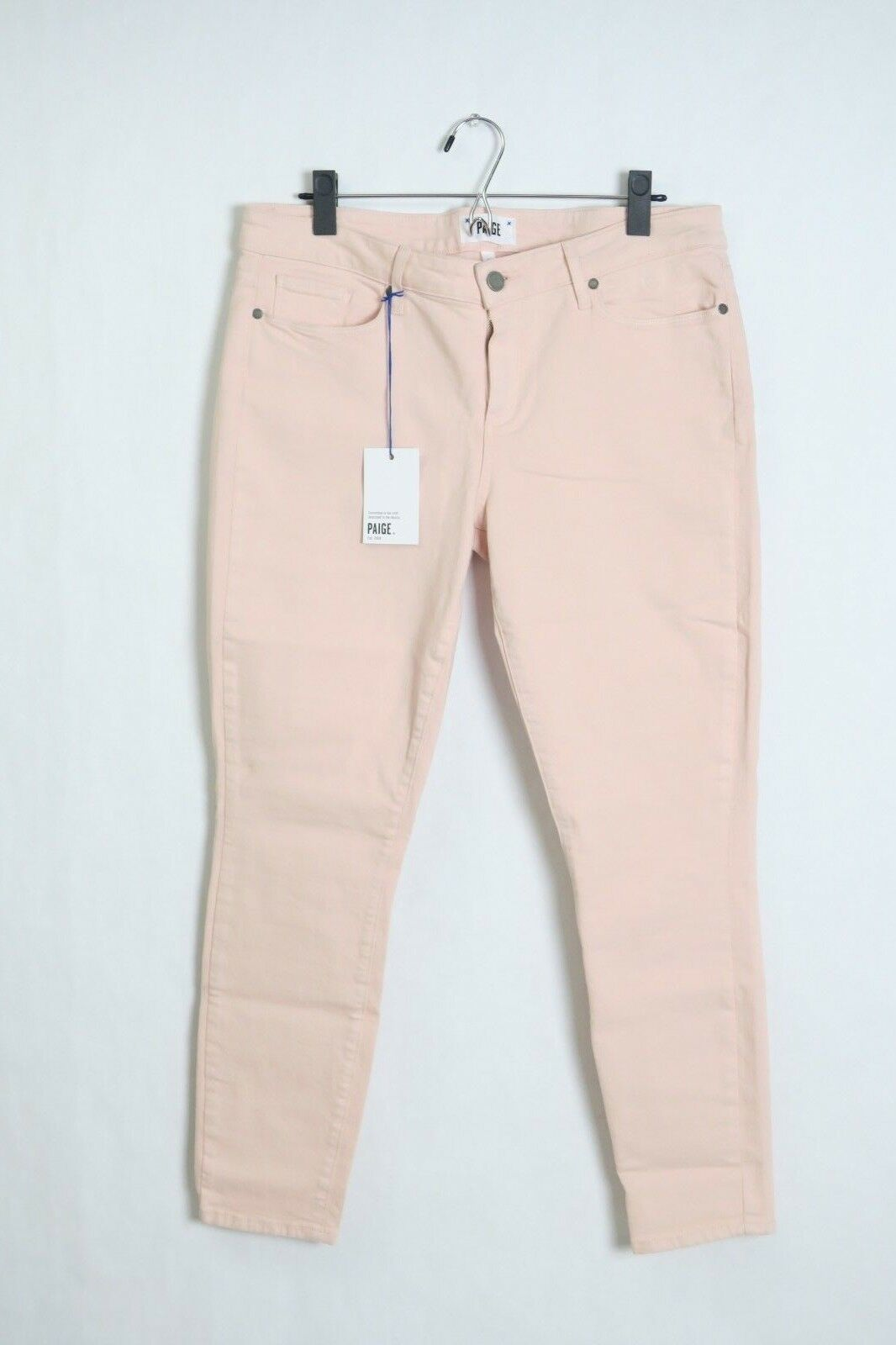 NWT Paige Women's Jean Transcend The Verdugo Ankle Powder Pink Light Skinny 32