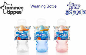 NEW-TOMMEE-TIPPEE-CTN-EXPLORA-WEANING-BOTTLE-4m-BPA-FREE-pink-or-clear