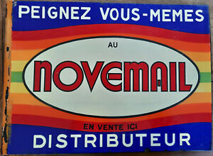 Antike Platte Emailliertes Doppelt Vorne Novemail Farbe Artisan Email Eas