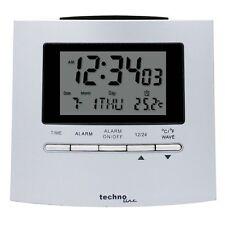 Technoline Radio Controlled Alarm Clock WT250 Plastic Silver LED Backlight