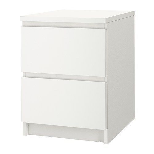 IKEA Malm Chest With 2 Drawers Nightstand   White | EBay