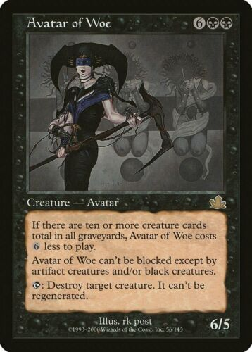 Avatar of Woe Prophecy PLD Black Rare MAGIC THE GATHERING MTG CARD ABUGames