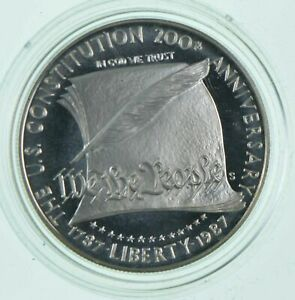 Proof-1987-S-US-Constitution-Bicentennial-Commemorative-90-Silver-Dollar