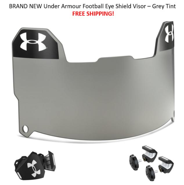 Best Price Under Armour Football Eye Shield Visor Grey Tint Free Shipping Ua New