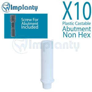 10 Kunststoff Castable Widerlager nicht Hex Dental interne Hex mit Schraube