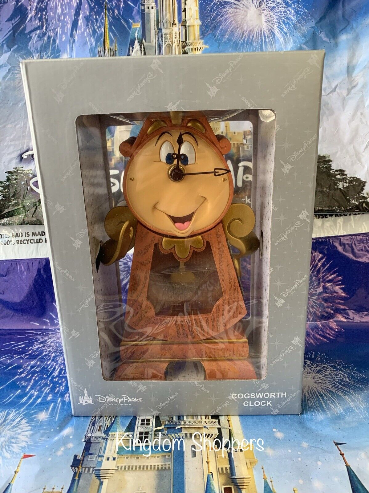 Disney Parks Beauty And The Beast Cogsworth Clock 053176071572 For Sale Online Ebay