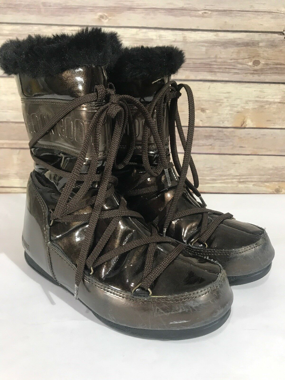 Moon Boots Tecnica Brown Size 4 Women's Girl Youth Winter Boots