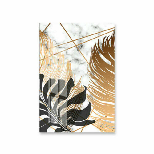Golden Leaf Canvas Painting Nordic Plants Posters Decor Home Wall Art