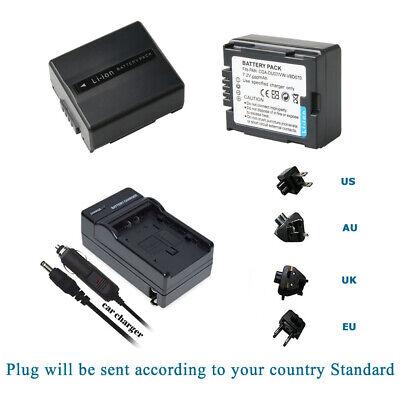CARICABATTERIE per Panasonic nv-gs-120-k nv-gs-55-k nv-gs-100-k
