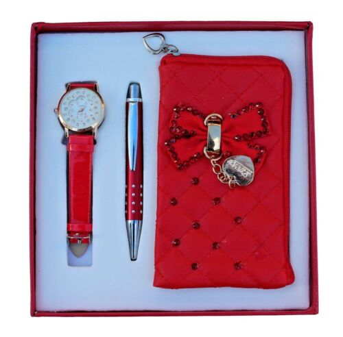 Christmas Gifts & Stocking Fillers For Girls  Watch & Soft Small Purse and pen