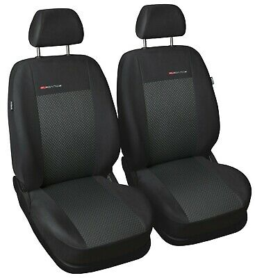Nissan Note 2008-13 2 x Fronts Heavy Duty Black Waterproof Car Seat Covers