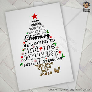 Funny Christmas Picture.Details About Funny Christmas Card Offensive Rude Friend Neighbour Work Family Xmas Nuthouse