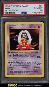 1999 Pokemon Base Set 1st Edition Jynx #31 PSA 10 GEM MINT