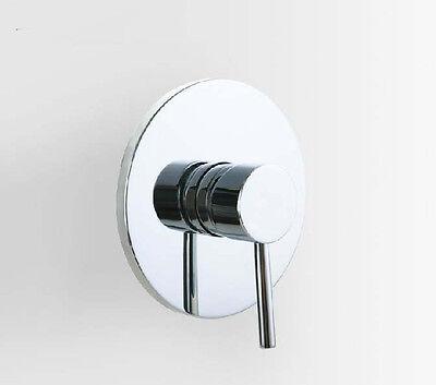 Chrome Shower Mixer Faucet Control Valve Round Style Single Handle Valve Mixer