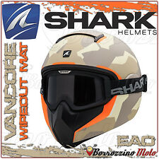 CASCO INTEGRALE SHARK VANCORE WIPEOUT MAT CAMOUFLAGE OPACO SABBIA ARMY TAGLIA XL