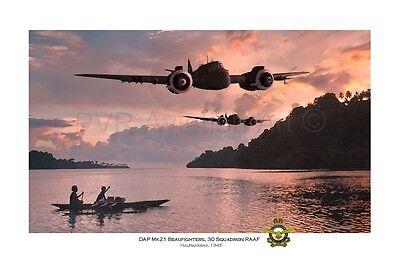 WWII RAAF 30 Squadron Beaufighter Aviation Art Photo Print