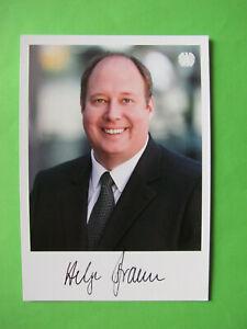 Autogrammkarte - Helge Braun - CDU - original autograph