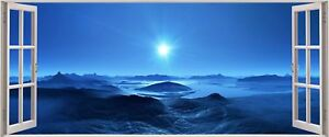 Huge-3D-Panoramic-Fantasy-Space-Planet-Window-View-Wall-Stickers-Mural-396