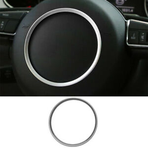 Carbon Fiber Steering Wheel Decoration Trim Car Steering Wheel Cover for Audi A4L A1 A3 A5 A6L A7 Q7 Q5 Q3 A8