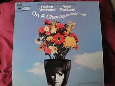 """BARBRA STREISAND & YVES MONTAND """"ON A CLEAR DAY YOU CAN SEE FOREVER"""" VINYL LP"""
