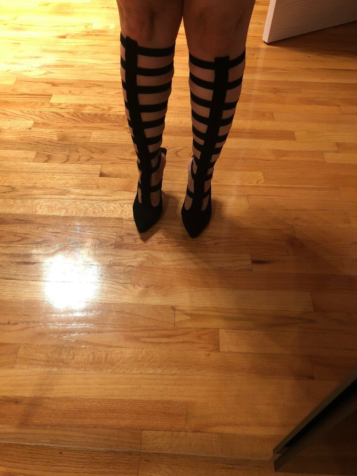 Jeffrey Campbell gladiators boots size 8, suede
