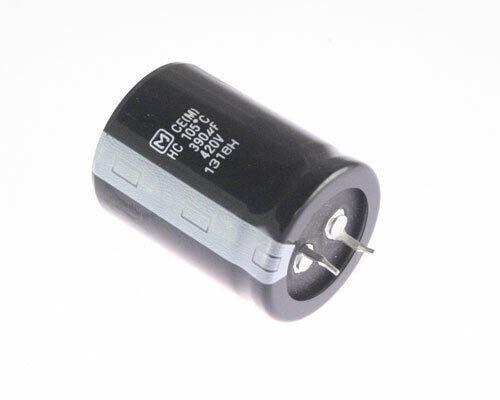 5x 390uF 420V DC Radial Snap In Mount Electrolytic Capacitor 420VDC 390mfd