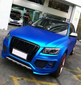 Matte Blue Car >> Details About Blue Stretchable Matte Metallic Chrome Satin Car Wrap Vinyl Air Free Multi Size