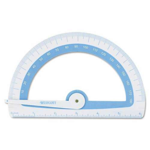 Westcott® Soft Touch School Protractor With Microban Protection 073577143760