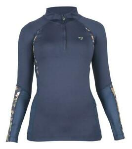 Shires-Aubrion-Newbury-Long-Sleeve-Base-Layer-Shirt-Ladies-in-Navy