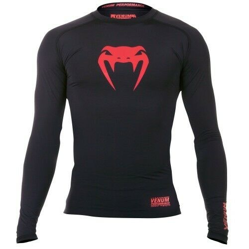 Venum Contender 2.0 Compression Long Sleeve Top Rashguard - Red Devil (Large)