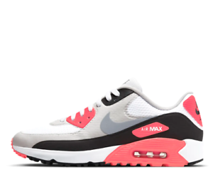 Nike Air Max 90 G NRG Infrared Golf Shoes White Grey CU9978-103 ...