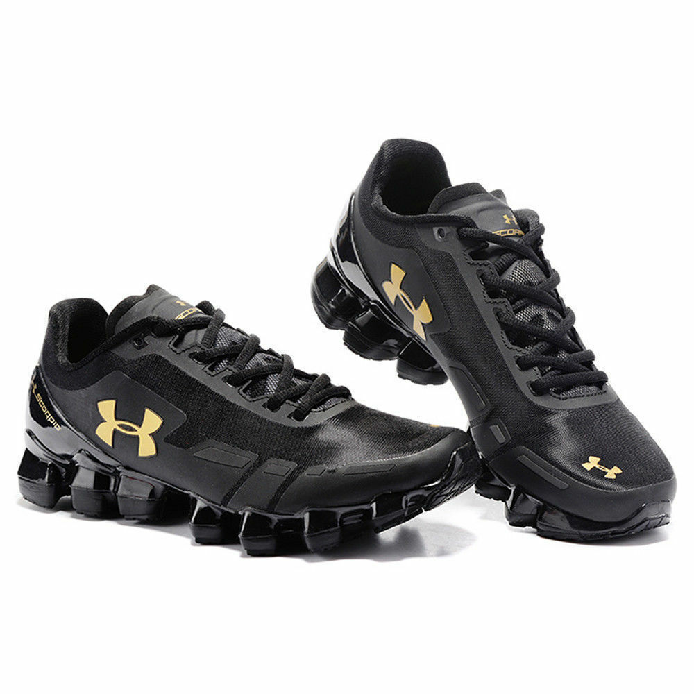 145cac1d66e 2018 Men s Under Armour Mens UA Scorpio Running Shoes Leisure shoes Black Gold  4 4 of 6 ...