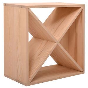 24-Bottles-Holder-Wine-Rack-Solid-Wood-Stackable-Storage-Cube-Tabletop-Champagne