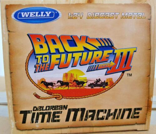 DeLorean Ritorno al Futuro 3 Back to the Future BTTF Scala 1:24 Die Cast Welly