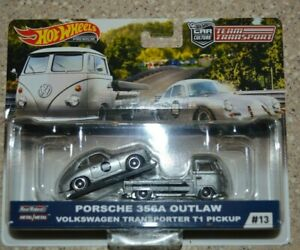 Hot Wheels 2019 Team Transport Porsche 356A Outlaw VW T1 Transporter Pickup (iA)