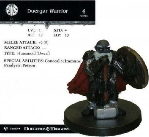 Duergar Warrior #32 Archfiends D/&D Miniatures DDM No Card//Dice D/&D G2X