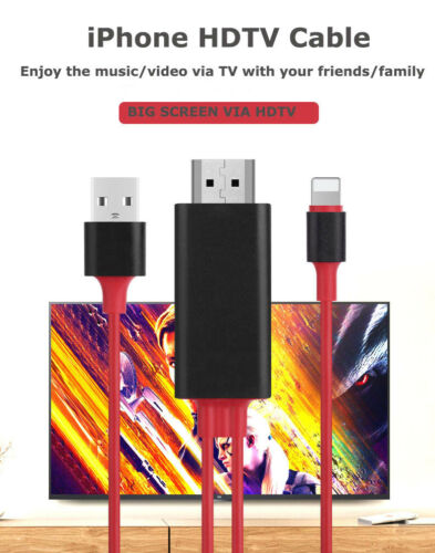 HDMI 1080P Audio//Video Cable Adapter w//USB Charging for Apple iPad 2 3 5 Air Pro
