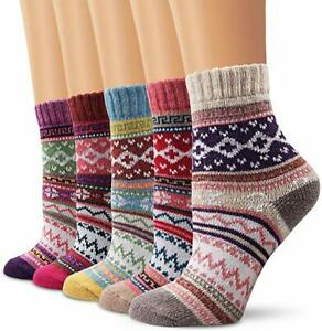 5-Pairs-Womens-Wool-Cashmere-Socks-Crew-Cut-Retro-Thick-Winter-Warm-Casual-5-10