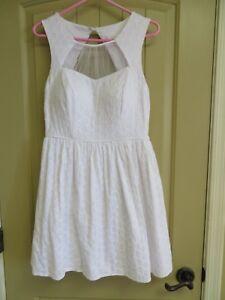 graduation white eyelet dress