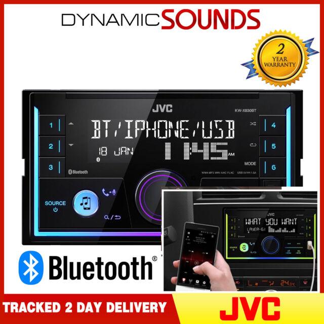 JVC KW-X830BT Mechless Double Din Bluetooth aux USB MP3 Voiture Taxi Van Stéréo