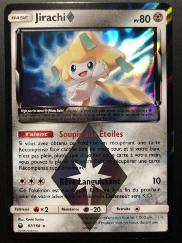 Pokemon card jirachi 97//168 prism sun and moon 7 sl7 fr new