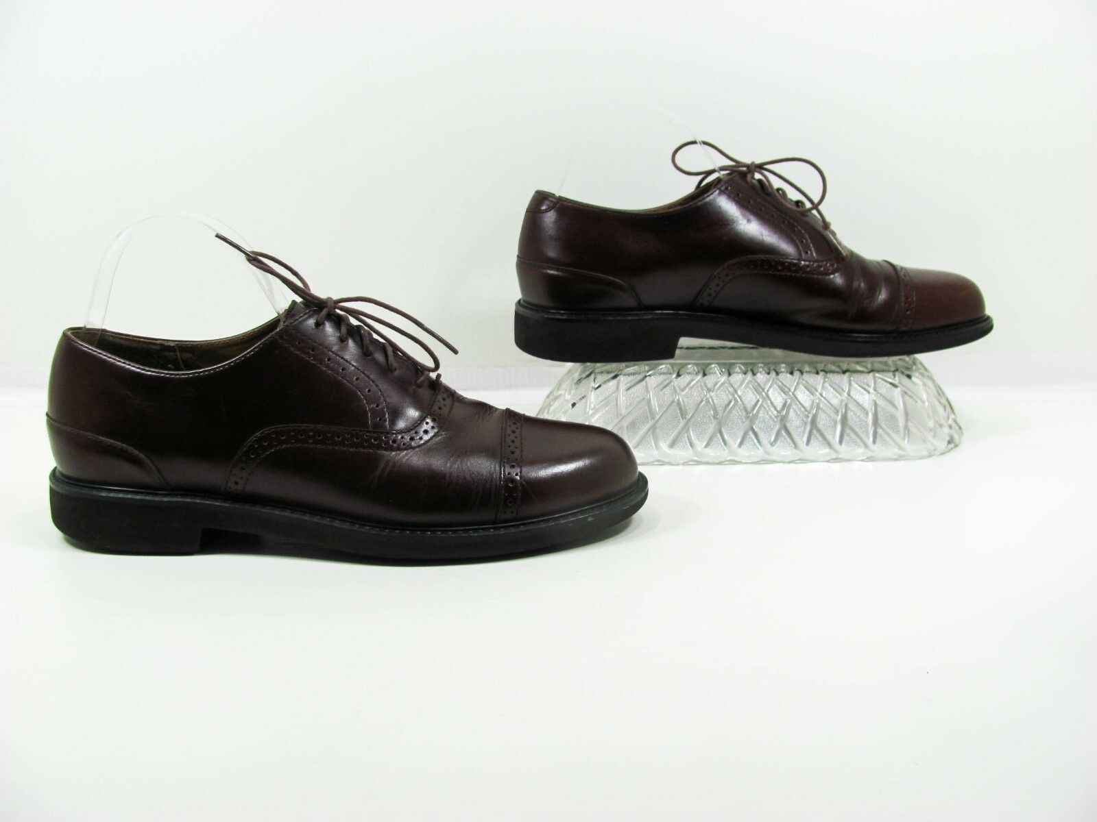 Rockport Men Brown Derby Cap Toe Oxford shoes Size 8M EUR 41 Pre Owned