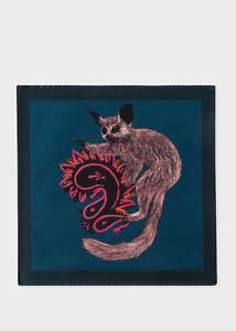 BNWT 100/% Silk Strawberry Skull RRP:£50 Paul Smith Pocket Square Handkerchief