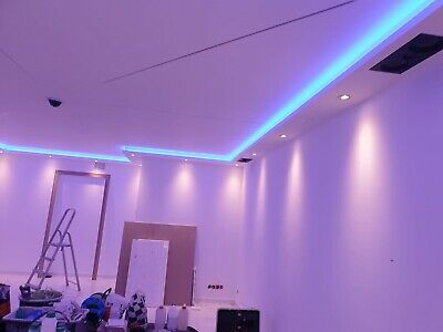 20 Meter LED Licht Bebauung Stuckleiste für indirekte Beleuchtung XPS OL-45