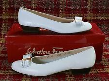 Salvatore Ferragamo Boutique Vara Bow Shoe Leather 6.5 AA Niccola Flat Vintage