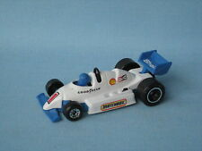 Matchbox F-1 Racer Race Car White Body Black Roll Bar Toy Model 70mm UB