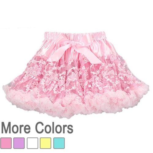 Lace Pettiskirt Fluffy Tutu Girl Dress Up Ballet Costume Petti Skirt USA seller