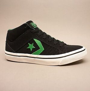 Converse Cons Gates Mid Black Green Suede 144490C Turnschuhe