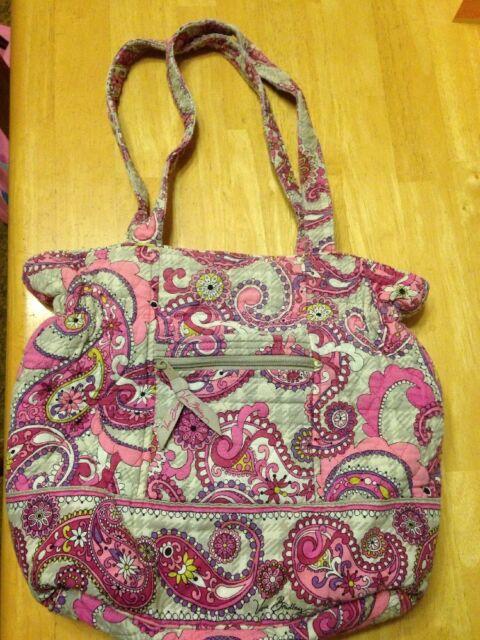 0f4f01ad3eda Vera Bradley LAURA TOTE BAG Purse Pretty Paisley Design- Preowned