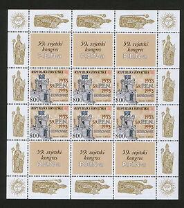 CROATIA-MNH-SHEET-59-WORLD-CONGRESS-P-E-N-a-1993